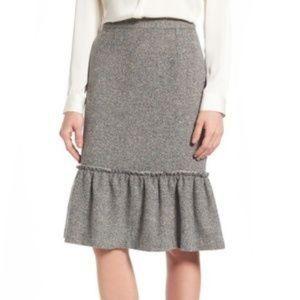 Halogen  Ruffle Hem Pencil Skirt